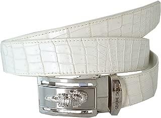 Authentic Sefaro Crocodile Skin Men's Big Belly Belt