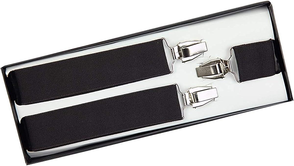 Wonder Stage Men's Heavy Duty Y-Back Suspender-Adjustable Size Long & Elastic Braces