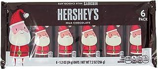 Hershey`s Milk Chocolate Santa Bar, 6-Count of 1.2-Ounce bars, 7.2-Ounce Package