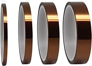 High Temperature Kapton Tape Polyimide Film Tape,High Temp Tape for Masking Soldering 3D Printing 1/8