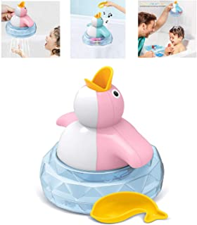 Penguin Bath Toys, Bathtub Toys, Baby Bath Toys, with Music, can Glow and Develop The Baby's Brain (Pink)