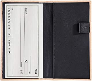 Checkbook Cover with Divider for Men/Women,Made by Italy Leather
