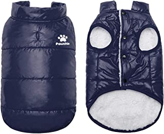 PAWCHIE Dog Winter Clothes Warm Coat for Cats & Small Dogs Soft Down Jackets Windproof Coats for Cats, Puppies in Cold Days