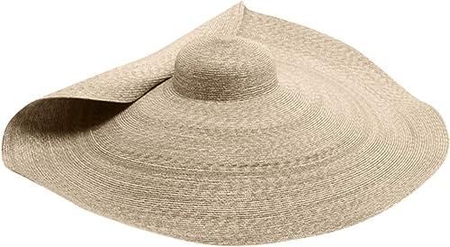 Beach Sun Cap for Women Floppy Straw Hat Large Brim Sun Oversized Hat Straw Roll up Cap