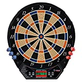 Rally and Roar Electronic Dart Board with 6 Soft Tip Darts, Spare Tips Electric Dart Boards for Adults with Voice and Sound System, LCD Scoring for Game Rooms - Premium Dartboard Set