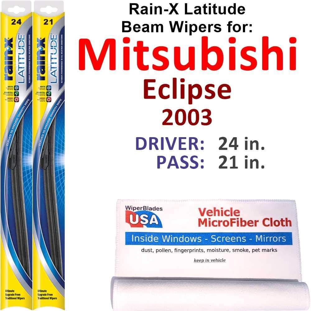 Rain-X 1 year warranty Latitude Beam Wiper A surprise price is realized Blades 2003 Eclipse for Mitsubishi Se