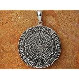 メキシコ マヤ アステカカレンダー 太陽の石 ペンダントトップ シルバー925