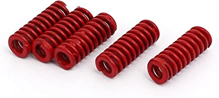 Sydien 4 Pcs 30mm OD,80mm Free Length Steel Tubular Section Medium Heavy Duty Die Spring Compression Spring Red,38/% Maximum Compression