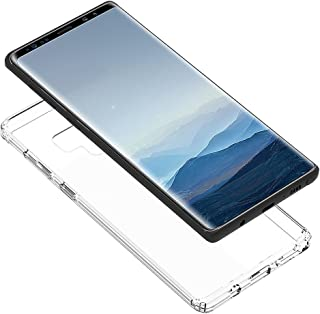 Crystal Galaxy Note 9 case Scratch Resistant Soft Silicone Bumper Compatible Samsung 6.4 inch Clear Liquid 2018 Protection Premium Clarity Retail Package Ultra Thin TPU Rubber Skin Protective Cover