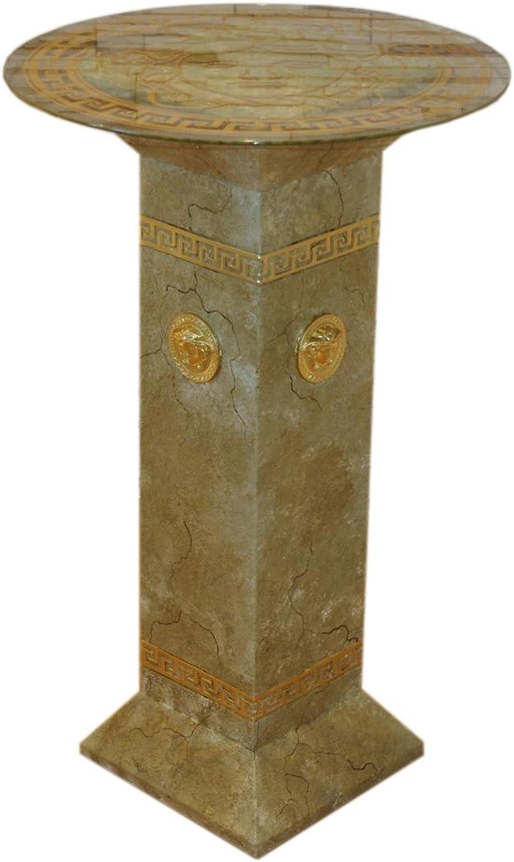 Antikes Wohndesign Versa Serie Blaumensule Marmorsule Deko Sule Beistelltisch Telefontisch
