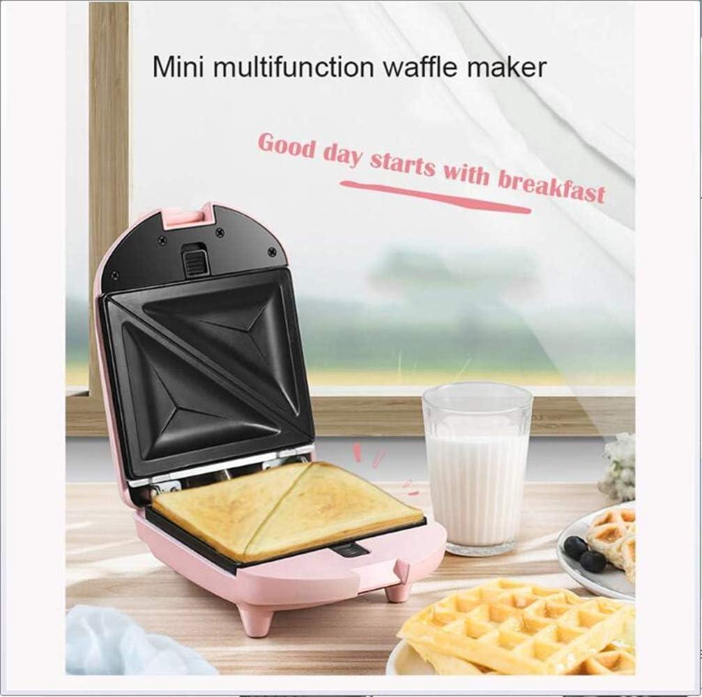 XHLLX Mini Sandwich, Bouilloire Électrique Gaufrier Machine Gâteau De Cuisson Panini Four À Pain Muffin en Acier Inoxydable Grille-Pain Petit Déjeuner + 3 Plateaux De Cuisson,B B