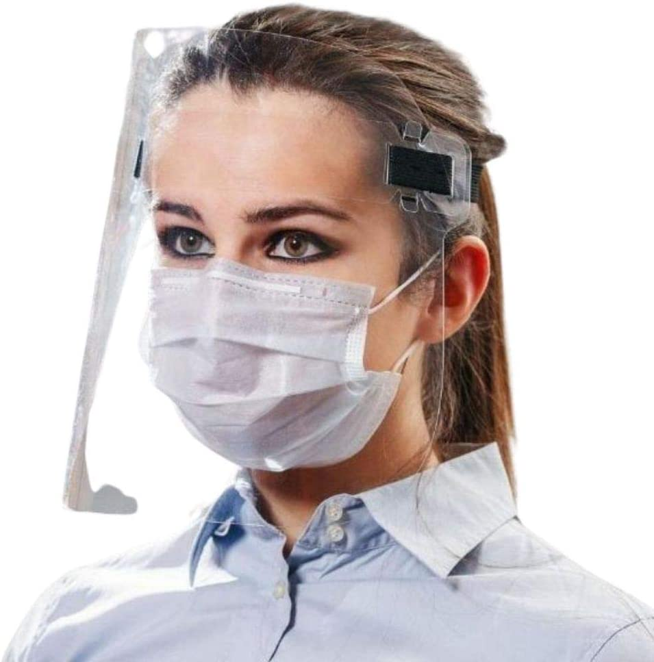 4Safe Máscara de protección facial, antipolución, antiarañazos, antisaliva, para niños, adultos, gafas, transparente