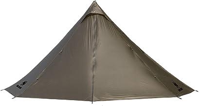 OneTigris | Black Orca Chimney Tipi tent met fornuisgat, smokey hoed tent voor trekking camping outdoor dubbele shelter wa...