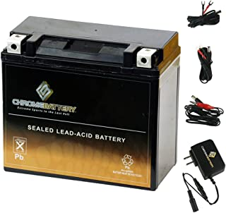 YTX20H-BS Battery with 0.5 Amp Charger - Bundle of 2 items