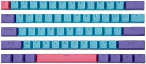 BOYI Shine-Through Keycaps, BOYI 61 Key ANSI Layout OEM Profile PBT Thick Keycaps for 61 Mechanical Keyboard Joker 61 keycaps