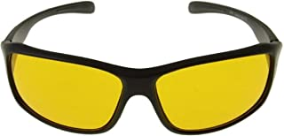 SHAAD UNISEX NIGHT VISION UV PROTECTED SPORTS DRIVING GLASSES (YELLOW, BLACK)
