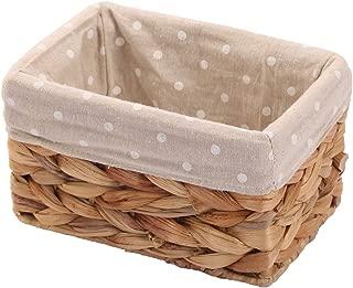 KINGWILLOW Rectangular Wicker Storage Basket&Bins Container, Organizer Box, Art & Craft (Small)