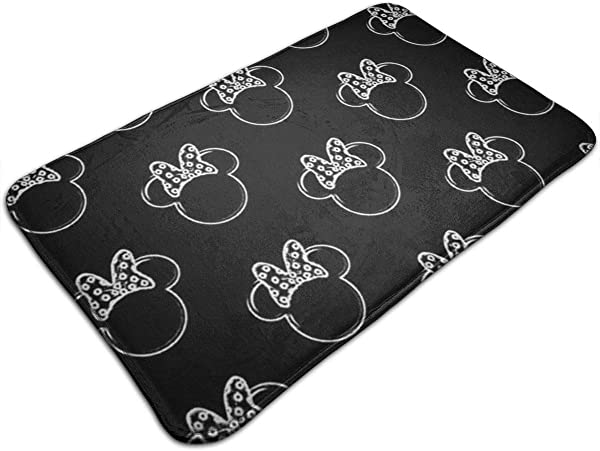 HARLEY MARTIN Welcome Doormat Mickey Mouse And Minnie Mouse Rug 19 5 X 31 5 Non Slip Kitchen Home Bathroom Pet Entry Rugs