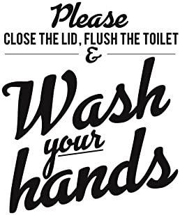 Set of 4 Funny Bathroom Quotes & Rules (Unframed) Best Modern Toilet Decor | Premium Card Stock Sayings Posters | (8x...