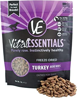 Vital Essentials Freeze-Dried Mini Nibs Grain Free Limited Ingredient Dog Entree, 1 Pound Bag