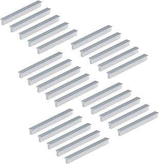 Emuca 9165862 handgrepen voor meubelstuk, CC 128 mm, aluminium, mat geanodiseerd, 25 stuks