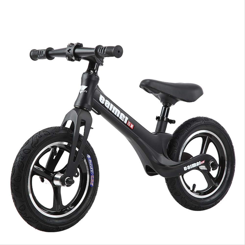 Auto bilanciata per bambini Full Magnesio In lega Equilibrio Auto a piedi Auto Senza Foot Bike 12 Nero opaco