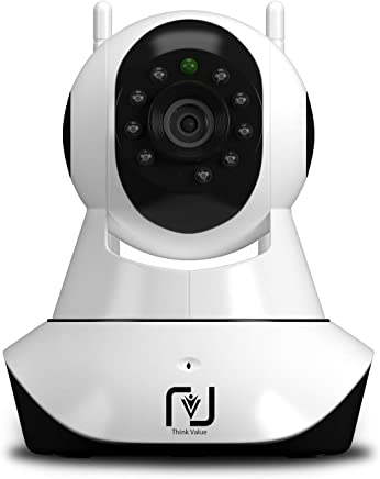 98c6f62e7 ThinkValue T8855 Wireless HD IP WiFi CCTV Indoor Security Camera (Supports  Upto 128 GBB SD