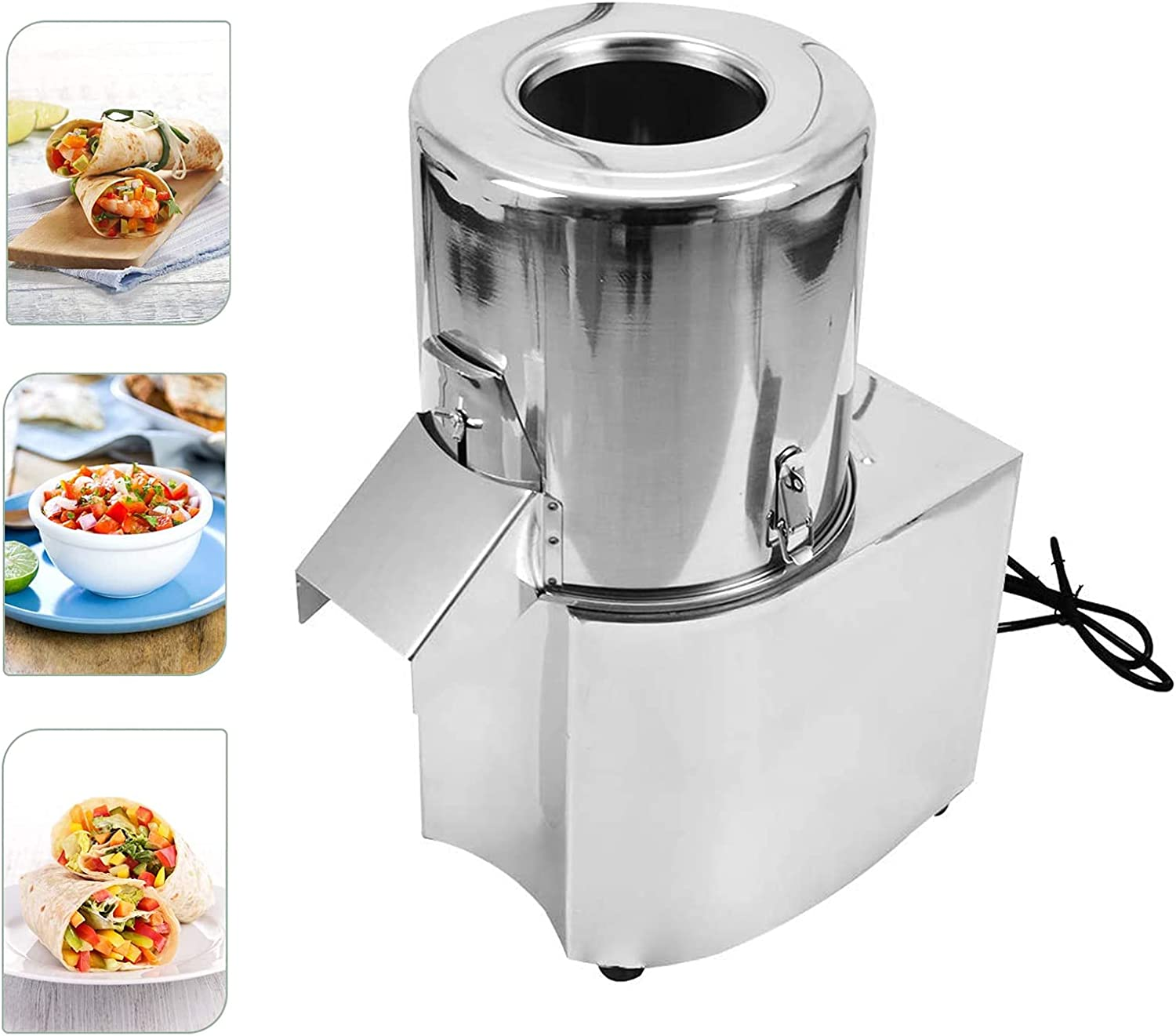 Electric Food Processor, Commercial Vegetable Chopper Meat Grinder Machine Fully Stainless Steel Body & Blades Perfect for Restaurant Home Kitchen Use 110V/550W 120Kg/H