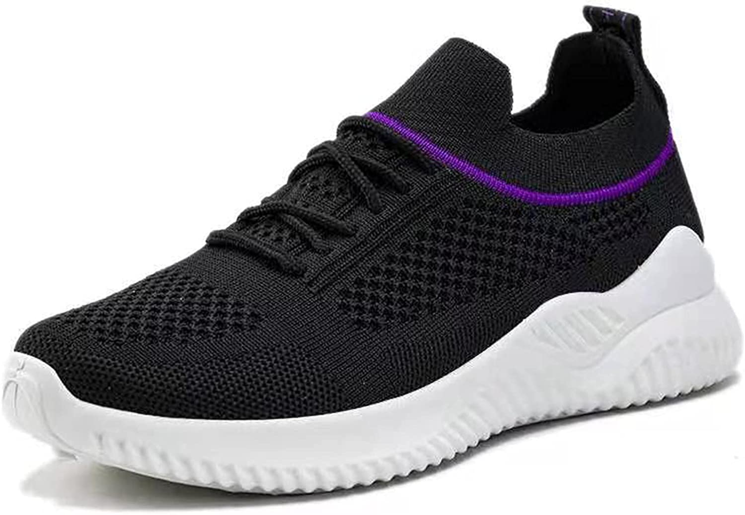 Pzhhzpingg Sneakers for Women Walking Shoes Slip On Casual Shoes Solid Color Breathe Soft Lace Up Wedge Outdoor Sport Shoes
