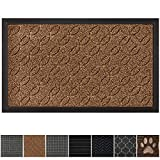 GRIP MASTER Durable All-Natural Tough Rubber Doormats, 29x17 Size, Waterproof Boots Scraper Mats, Heavy Duty Indoor...