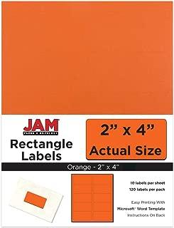 JAM PAPER Shipping Address Labels - Standard Mailing - 2 x 4 - Orange - 120/Pack