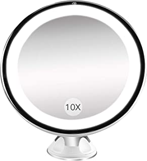 Bestope Miroir Maquillage grossissant 10x Lumineux,16 LED, 360°Rotation..