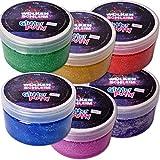 Wolkenschleim 6 Stück Glitter Putty Glitter Slime Glitzer Schleim Glibber Knete Kinder 240g Mehrfarbig Sortiert