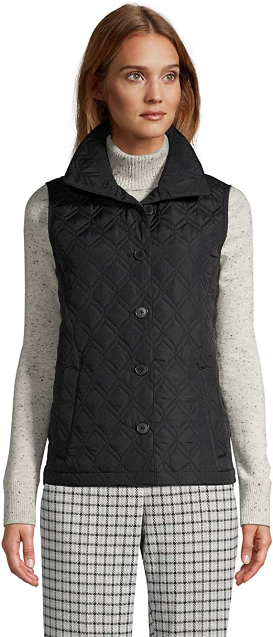 Lands' End Women's Insulated Packable Quilted Barn Vest