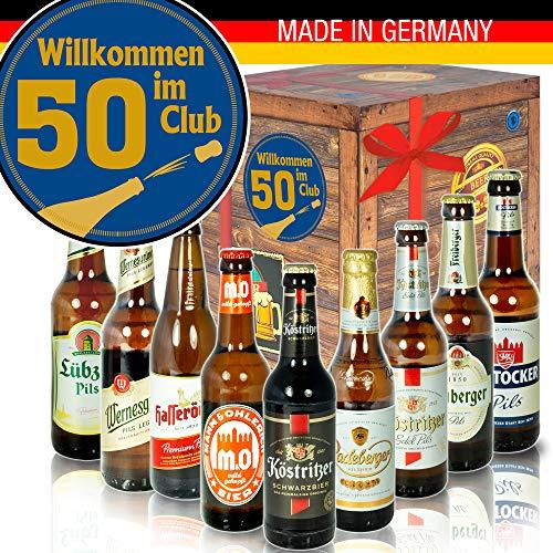 Wilkommen im Club 50 - DDR Bierbox - Geburtstag 50 Partner