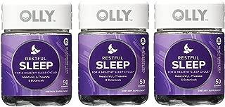 OLLY Restful Sleep Gummy Supplements, Blackberry Zen, 3Pack ( 100 Count Each ) Ujkngc