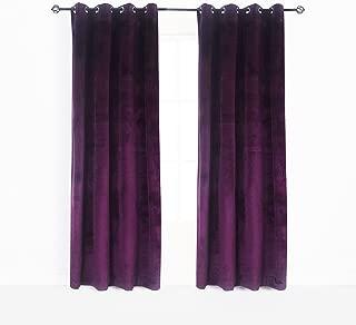 purple tweed curtains