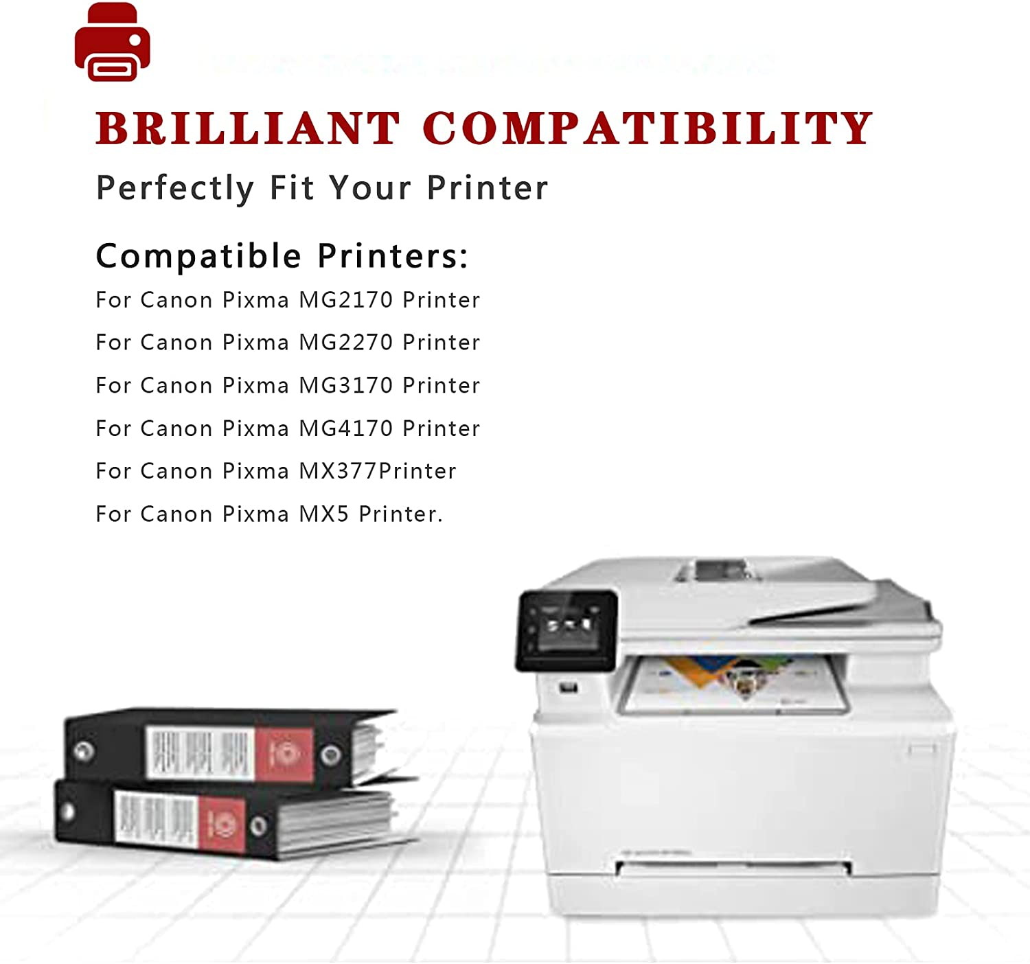 HYYH Compatible for Canon PG740 CL741 Toner Cartridge Replacement for Canon Pixma MG2170 MG2270 MG3170 MG4170 MX377 MX5 Printer Drum Unit Ink Toner, BK,C,Y,M Black