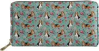 HUGS IDEA Women's Long Wallet Animal Prints Welsh Corgi Pembroke PU Leather Purse