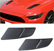 MotorFansClub Front Hood for 15-17 Ford Mustang GT Style Hood Trim Scoop Vent Guards Heat Extractor Insert Vent