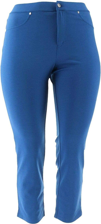 Liz Claiborne Ponte Knit Slim Leg Pants Deep Blue 20P New A256509