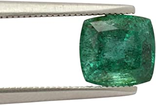 Chordia Jewels 100% natural Zambian emerald cushion cut 8.10x7.70x5.90mm 2.42 carats loose gemstone