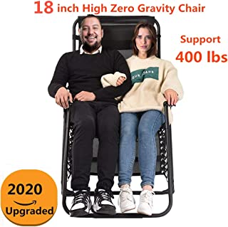 Heavy Duty Zero Gravity Chair XL, Supports 400 lbs Oversized Patio Lounge Chair,Comfortable Outdoor Camping Beach Chair Recliners with Cup Holder