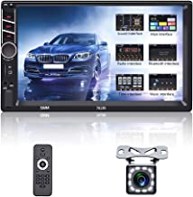 $69 » Double Din Car Stereo Player 7 Inch HD Touch Screen Multimedia Head Unit MP5 Receiver with Bluetooth FM D-Play Support AUX...