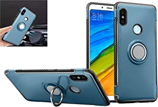 Xiaomi Redmi Note 5 Case,360° Rotating Ring Kickstand Protective Case,TPU+PC Shock Absorption Double Protection Cover Compatible with [Magnetic Car Mount] for Xiaomi Redmi Note 5 Case (Navy)