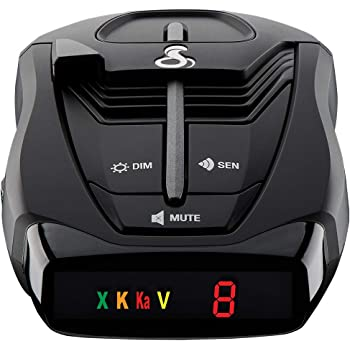 Whistler CR88 High Performance Laser Radar Detector 360 Degree Protection and Bilingual Voice Alerts