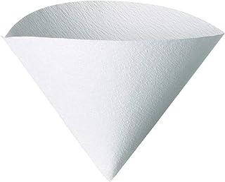 Hario Filtres en papier pour cafetière V60, compatible avec la taille 02, Blanc, 1-100pcs
