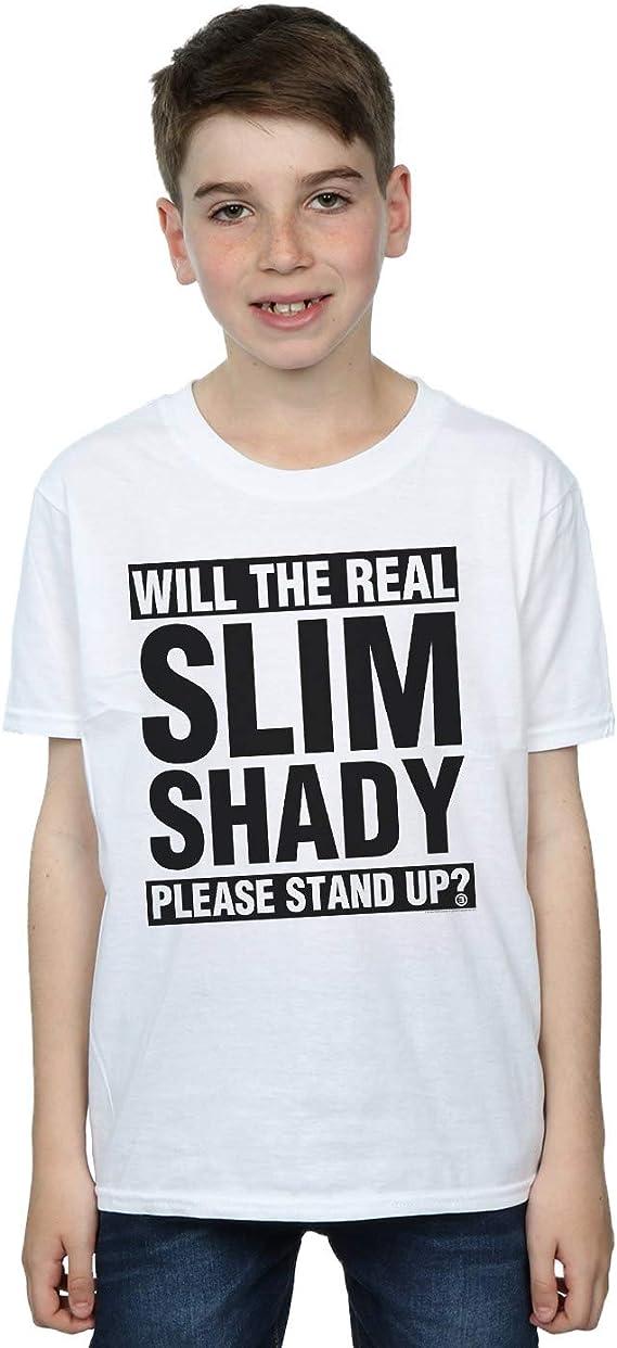 Eminem Boys Real Slim Shady T-Shirt Sport Grey 5-6 Years