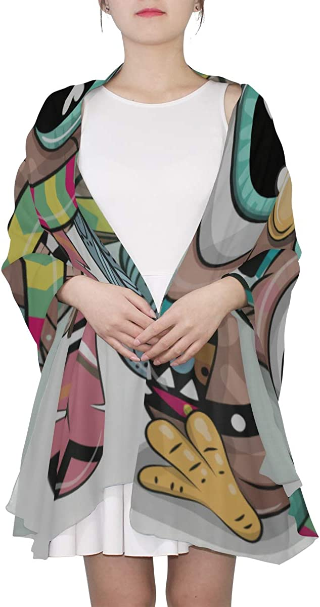 Cute Owls Is Sitting On A Brunch Unique Fashion Scarf For Women Lightweight Fashion Fall Winter Print Scarves Shawl Wraps Gifts For Early Spring