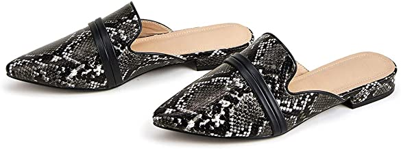 BBrand Women's Fashion Loafer Flats Low Heel Slipper Shoes Casual Pointed Toe Mule